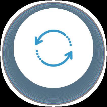 Símbolo flechas circulares